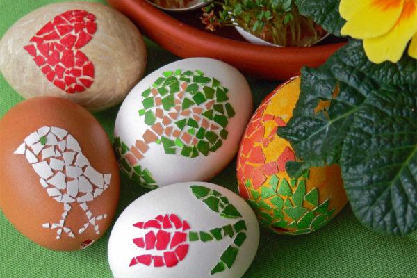 Mozaiková velikonoční vejce